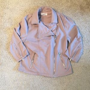 Forever 21 tan jacket with zipper detail